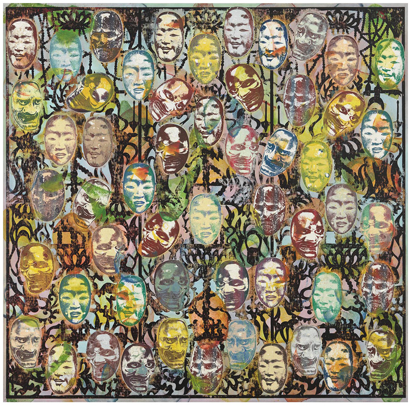 Onibaba I, 2010-11    Mixed media on linen    80 x 81-3/8 inches (203.2 x 206.7 cm)