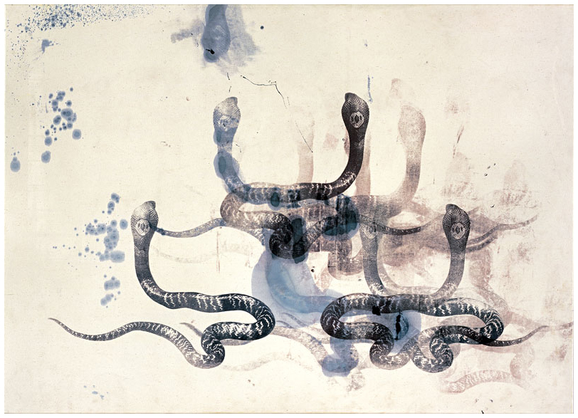 Calligraphic Study I, 1996   Mixed media on canvas 46 x 64 inches (117 x 162.5 cm)